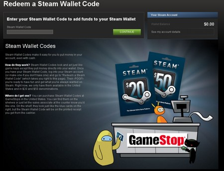 buying steam wallet codes