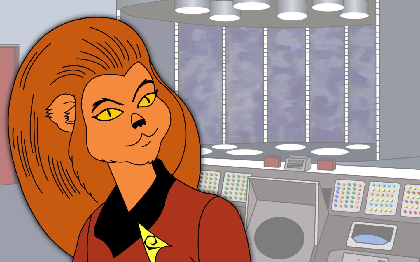 Lt. M'Ress, a Caitian Starfleet operations division officer who served aboard the USS Enterprise